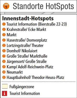 WLAN Hotspots Legende