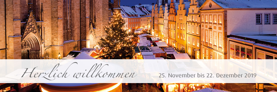 Start Weihnachtsmarkt.Stadt Osnabrück Start